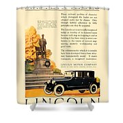 1924 - Lincoln Automobile - Color Shower Curtain