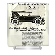 1924 - Oldsmobile Six Automobile Advertisement Shower Curtain
