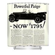 1924 - Paige Automobile Advertisement Shower Curtain