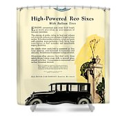 1924 - Reo Six Automobile Advertisement - Color Shower Curtain