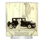 1924 - Rickenbacker Automobile Advertisement Shower Curtain