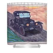 1924' Ford Model-t Touring Shower Curtain