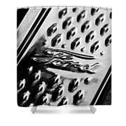 1924 Ford T Roadster Emblem -303bw Shower Curtain