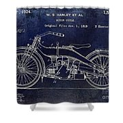1924 Harley Davidson Motorcycle Patent  Shower Curtain