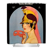 1924 - Theatre Magazine Cover - Color Shower Curtain