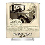 1925 - Buick Automobile Advertisement Shower Curtain