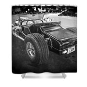 1925 Ford Model T Hot Rod Bw Shower Curtain