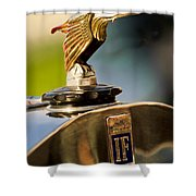 1925 Isotta Fraschini Tipo 8a S Corsica Boattail Speedster Hood Ornament Shower Curtain by Jill Reger