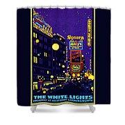 1925 New York City At Night Shower Curtain