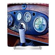 1925 Stutz Series 695h Speedway Six Torpedo Tail Speedster Dashboard Instruments Shower Curtain