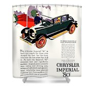 1926 - Chrysler Imperial Convertible Model 80 Automobile Advertisement - Color Shower Curtain