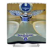1926 Duesenberg Model A Boyce Motometer Shower Curtain
