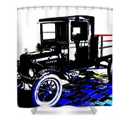 1926 Ford Model T Stakebed Shower Curtain