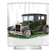 1926 Ford Tudor Sedan Street Rod Shower Curtain