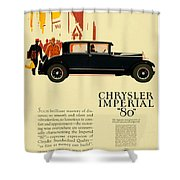 1927 - Chrysler Imperial Model 80 Automobile Advertisement - Color Shower Curtain