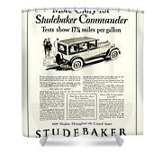 1927 - Studebaker Commander Automobile Advertisement Shower Curtain