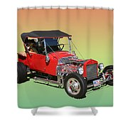 1927 Ford T Bucket Rag Top T Bucket Shower Curtain