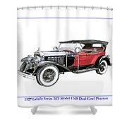 1927 La Salle Dual Cowl Phaeton Shower Curtain
