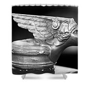 1928 Buick Custom Speedster Hood Ornament 3 Shower Curtain