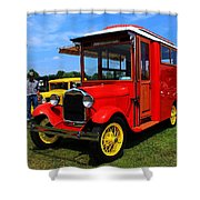 Popcorn Truck Shower Curtain