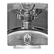 1928 Pierce-arrow Hood Ornament 2 Shower Curtain
