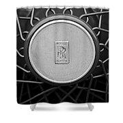 1928 Rolls-royce Spoke Wheel Shower Curtain