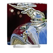 1928 Studebaker Hood Ornament 2 Shower Curtain by Jill Reger