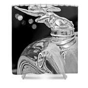 1928 Studebaker Hood Ornament 3 Shower Curtain