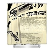 1929 - Studebaker Automobile Franch Advertisement Shower Curtain