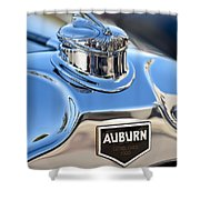1929 Auburn 8-90 Speedster Hood Ornament Shower Curtain