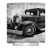 1929 Buick Black And White Shower Curtain