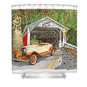 1929 Chrysler 65 Covered Bridge Shower Curtain