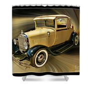 1929 Ford Shower Curtain