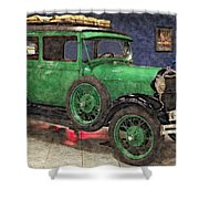 1929 Ford Model A By Liane Wright Shower Curtain