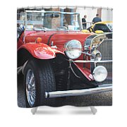 1929 Mercedes Benz Front And Side View Shower Curtain