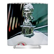1929 Minerva Hood Ornament Shower Curtain