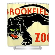 1930 - Brookfield Zoo Poster - Boston - Color Shower Curtain