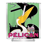 1930 - Pelican Cigarettes French Advertisement Poster - Color Shower Curtain