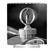 1930 Bugatti Hood Ornament Shower Curtain