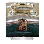 1930 Desoto K Hood Ornament Emblem Shower Curtain