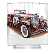 1930 Dusenberg Model J Shower Curtain