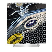 1930 Ford Model A - Radiator N Grill - 7479 Shower Curtain