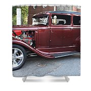 1930 Ford Two Door Sedan Side View Shower Curtain