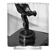 1930 Rolls Royce Emblem Shower Curtain
