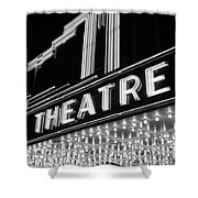 1930s 1940s Theater Marquee Theatre Shower Curtain