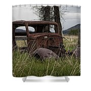 1930s Chevy Coupe-autos-image Shower Curtain