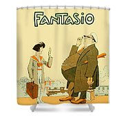 1931 - Fantasio French Magazine Cover - September - Color Shower Curtain