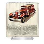 1931 - Packard - Advertisement - Color Shower Curtain