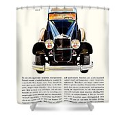 1931 - Packard Automobile Advertisement - Color Shower Curtain