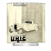 1931 - Unic 8 French Automobile Advertisement Shower Curtain
